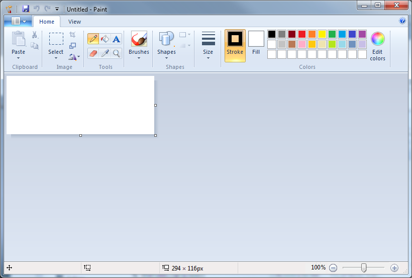 how to make a logo in paint windows 7
